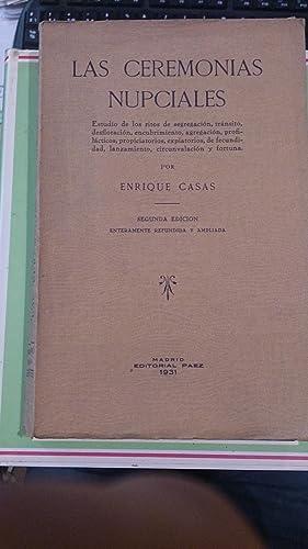 LAS CEREMONIAS NUPCIALES (Madrid, 1931): Enrique Casas