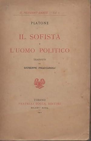 Il sofista e l'uomo politico.: PLATONE.