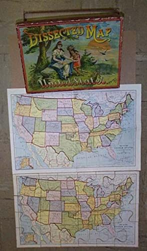 Dissected Map of the United States: MCLOUGHLIN BROS. MAP PUZZLE