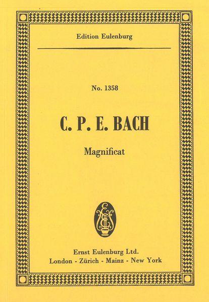 Magnificat : For Five Soli, Chorus and Orchestra. - Bach, Carl Philipp E.,