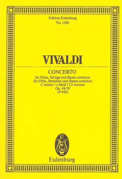 Concerto, Op. 44 No. 19 : For Flute, Strings and Basso Continuo. - Vivaldi, Antonio,
