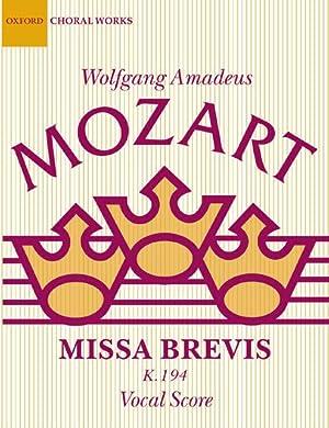 Missa Brevis K. 194 / Vocal Score: Mozart, Wolfgang Amadeus,