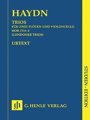 Trios : Für Zwei Flöten und Violoncello,: Haydn, Joseph,