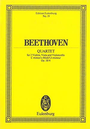 String Quartet No. 4 In C Minor,: Beethoven, Ludwig Van,