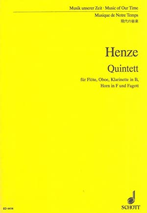 Woodwind Quintet : For Flute, Oboe, Clarinet,: Henze, Hans Werner,