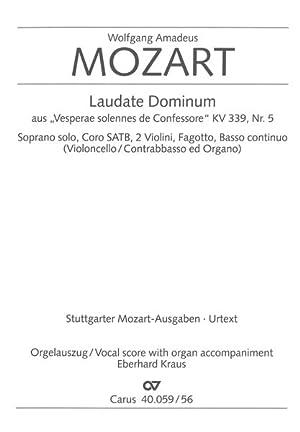 Laudate Dominum In F Major, K. 339,5: Mozart, Wolfgang Amadeus,