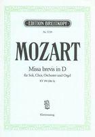 Missa Brevis In D, K. 194 : Mozart, Wolfgang Amadeus,