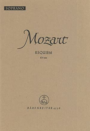 Requiem, K. 626 : Soprano Part.: Mozart, Wolfgang Amadeus,