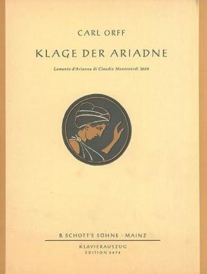 Klage der Ariadne : Lamento d'Arianna ID: Orff, Carl,