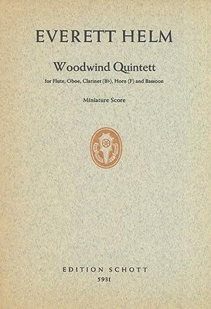 Woodwind Quintet : For Flute, Oboe, Clarinet: Helm, Everett.