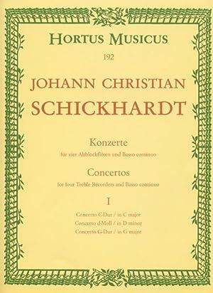 Concerti : For Four Recorders and Basso: Schickhardt, Johann Christian,