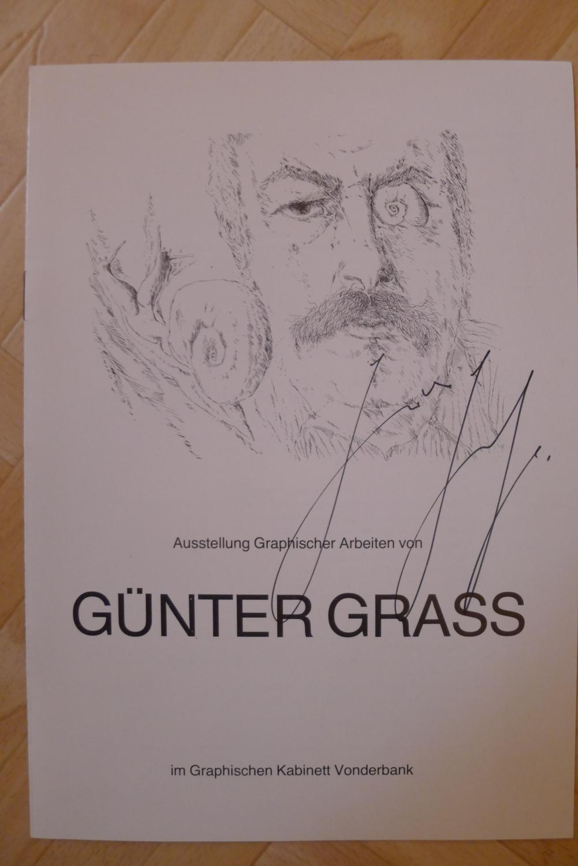 """Einladung zur Ausstellungseröffnung """"Graphische Arbeiten von Günter Grass"""", Mit..."""