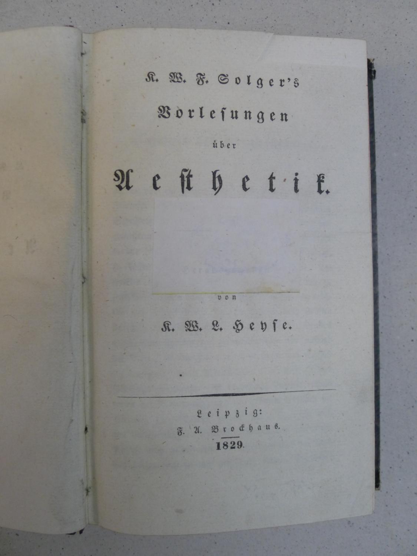Vorlesungen über Aesthetik, Hg. von K.W. L. Heyse,
