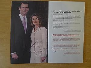 Mit Abb.,: Eröffnungsprogramm des Instituto Cervantes -