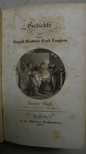 Gedichte, Zweier Theil, Mit 1 Titelkupfer,: Langbein, August Friedrich Ernst: