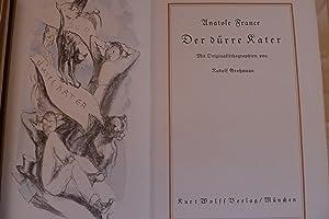 Der dürre Kater, Mit (handkolorierten) Originallithographien von Rudolf Großmann, Aus ...