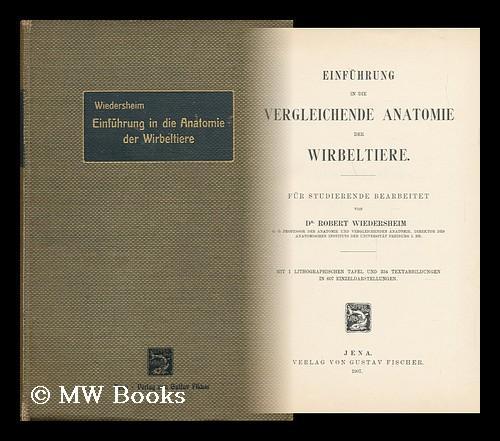 Vergleichende Anatomie Der, First Edition - AbeBooks