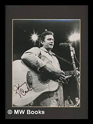 Johnny Cash : SIGNED mounted b/w promotional: Cash, Johnny