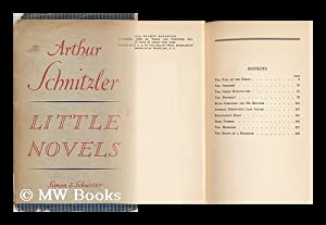 Little Novels, Translated from the German by: Schnitzler, Arthur (1862-1931)
