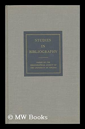 Studies in Bibliography / Edited by Fredson Bowers - Volume Thirty: Bowers, Fredson (Ed. )