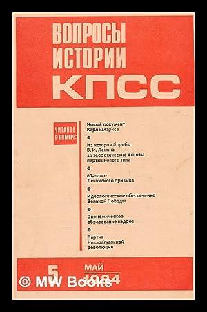 Voprosy istorii kpss: 5 [Questions of History: Izdatel'stvo