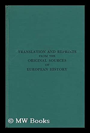 Translations and Reprints from the Original Sources of European History: No. 1 - Monumentum ...