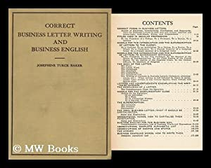 Correct Business Letter Writing and Business English: Baker, Josephine Truck