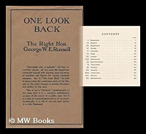 One Look Back, by the Right Hon. George W. E. Russell .: Russell, George William Erskine (1853-1919...