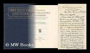 The Print-Collector's Handbook: Whitman, Alfred Charles. Salaman, Malcolm Charles [Ed. ]