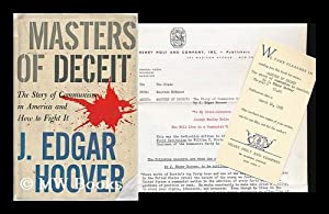Masters of Deceit; the Story of Communism: Hoover, J. Edgar