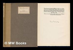 Frank Brangwyn, R. A. - Modern Woodcutters,: Furst, Herbert Ernest