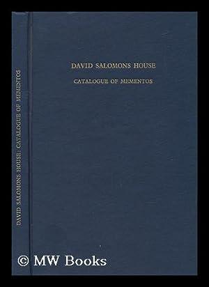 David Salomons House; Catalogue of Mementos, by M. D. Brown: Brown, Malcolm Denis