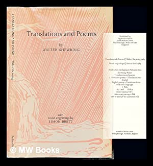 Translations and poems / by Walter Shewring: Shewring, Walter