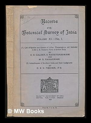 List of species and Genera of Indian: Calder, Charles Cumming