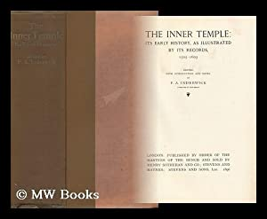 The Inner Temple : its Early History, As Illustrated by its Records, 1505-1603 / Edited with ...