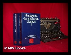 Hauptwerke der englischen Literatur : Einzeldarstellungen und Interpretationen. TWO VOLUMES: Thies,...