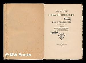 Quaestiones Geographico-Topographicae / Ladislaus Szczepanski: Szczepanski, Ladislaus
