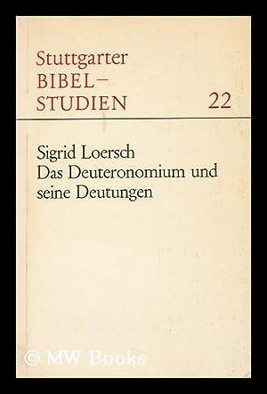 Das Deuteronomium Und Seine Deutungen : Ein Forschungsgeschichtlicher Uberblick. Vorwort Von Alfons...