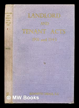 The Landlord and Tenant Acts, 1931 and: Deale, Kenneth E.