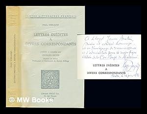 Lettres inédites à divers correspondants / Paul: Verlaine, Paul (1844-1896).