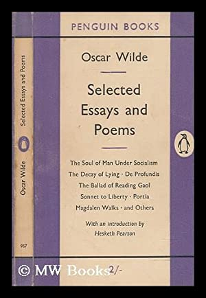 poems and essays by oscar wilde first edition abebooks selected essays and poems oscar wilde wilde oscar 1854 1900