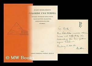 Pyramide Und Tempel; Notizen Wahrend Einer Reise Nach Agypten, Palastina, Griechenland, Und Stambul...