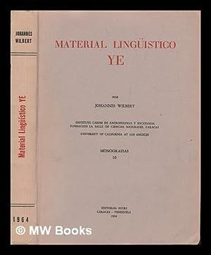Material Linguistico Ye: Wilbert, Johannes