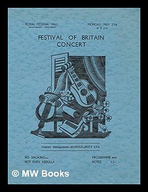 Festival of Britain Concert (Programme) - Mon.: Royal Festival Hall