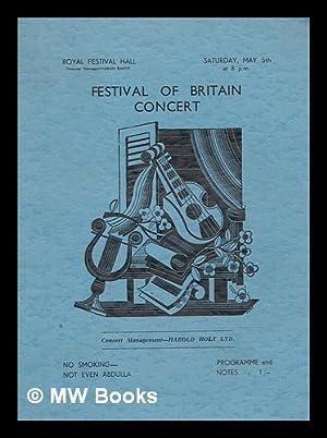 Festival of Britain Concert (Programme) - Sat.: Royal Festival Hall