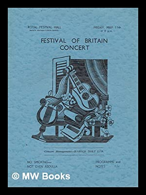 Festival of Britain Concert (Programme) - Friday: Royal Festival Hall