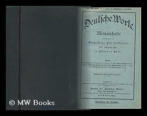 Deutsche Worte. Monatshefte Herausgegeben Von E. Pernerstorfer. XVI: Jahrgang 1896: Pernerstorfer, ...
