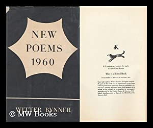 New Poems, 1960 / Witter Bynner: Bynner, Witter (1881-1968)