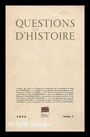 Questions D'Histoire, Vol. 1: Various