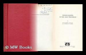 Human Rights in the Old Testament, by Hayim Simha Nahmani: Nahmani, Hayim Simhah